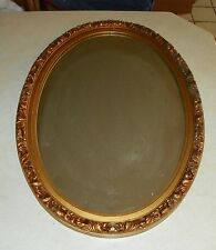 Oval Gold Composite Frame Mirror  (MR52)