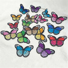 New 10x Embroidery Butterfly Sew Iron On Patch Badge Clothes Fabric Applique DIY