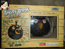 Angry Birds Black Bomb Speaker Big Bass iPhone/iPod/MP3 Dock Charger NEW