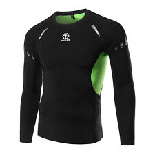 Mens Athletic Boxing Compression Workout Baselayer Tops T-shirt Thermal Sports