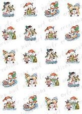 20 CHRISTMAS NAIL DECALS * SNOW SCENES * ASSORTED WATER SLIDE NAIL DECALS
