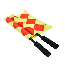 Soccer Referee Flag Fair Play Sports Match Linesman Flags Referee+Carry Bag good