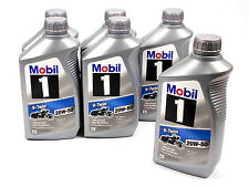 MOBIL 1 20W-50 V-TWIN OIL CASE (6)QT BOTTLE SYNTHETIC MOTORCYCLE HARLEY LUCAS