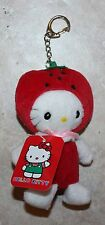 NEW Sanrio Japan Hello Kitty Strawberry Plush Keychain