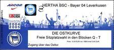 Ticket BL 2004/2005 Hertha BSC - Bayer 04 Leverkusen, 16.10.2004