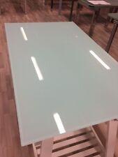 top piano in vetro temprato bianco 110x70 spessore 10 mm