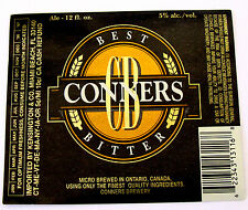 Conners Brewery CONNERS BEST BITTER  beer label CANADA 12oz