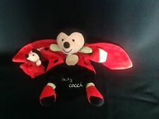 DOUDOU ET COMPAGNIE Ladybird Puppet style Doudou Baby Blankie Comforter Soft Toy