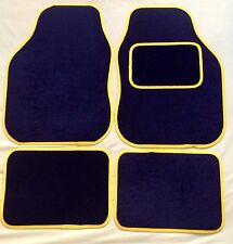 CAR FLOOR MATS FOR MINI COOPER CLUBMAN ONE FIRST S - BLACK WITH YELLOW TRIM