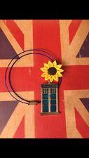Handmade Doctor Who Necklace Amy Pond Van Gogh Sunflower Tardis Jewelry