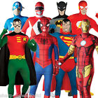Mens Superhero 2nd Skin Full Body Stretch Jumpsuit Fancy Dress Costume Outfit