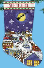 Cross Stitch Kit ~ Design Works Christmas Eve Stocking #DW5197