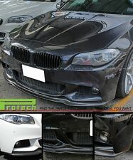 Carbon Fiber AK Style Front Bumper Add Lip For 2011+ BMW 528i 535i 550i M sports