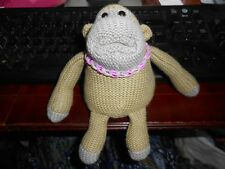 Medium PG Tips J Vegas Monkey TV Advert Knitted Purple Loom Band necklace