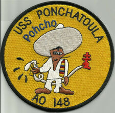 USS PONCHATOULA AO 148 FLEET OILER SHIP MILITARY PATCH PONCHO