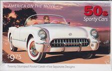 USA 2005 ** Sport Autos GA Ganzsachen Set OVP, 50s Sporty Cars, postfrisch, MNH