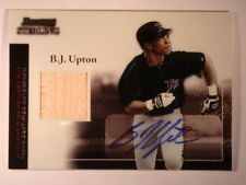 2004 B.J. Upton Bowman Sterling Autograph and Bat Relic #BS-BU Mint Condition
