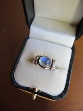 INDIA NB Nicky Butler Oval Cabochon Cut MOONSTONE RING SZ 8 925 STERLING