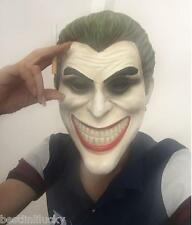 Joker Batman Dark Knight mask Masquerade porp Halloween Costume clown green hair