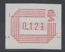1984 Frama Label. 12 1/2p trial on white paper with shaded head. Fine MNH.