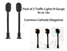 Pack of 2 Traffic Lights N Gauge 9v to 16v Common Negative
