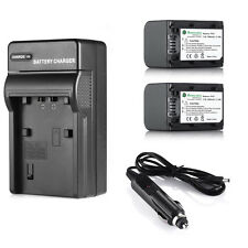 2x NP-FH70 Battery + Charger For Sony HandyCam HDR-HC9 DCR-HC28 NP-FH40 NP-FH60