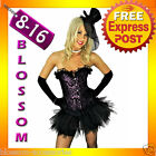 8132 Burlesque Purple Moulin Corset Tutu 8 10 12 14 16