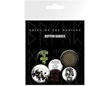 OFFICIAL LICENSED - BRING ME THE HORIZON - 6 BADGE PACK METAL OLI SYKES
