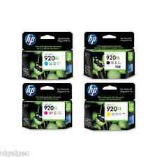 SET 4 HP 920XL HP920XL  CD972AE CD973AE CD974AE 7500 ORIGINAL INK CARTRIDGES