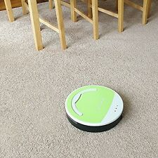 Auto Vacuum Robot Floor Cleaner Flooring and Hard Carpets Cleans Vacuums Dusts