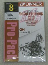 OWNER MOSQUITO HOOK FINE WIRE #5377-031 SZ 8 QTY 63