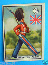 figurines cromos card figurine v.a.v. vav 102 la guerra nostra inghilterra fante