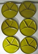 6x Melitta Fondue Raclette Menü Teller echt Selen Keramik 60er 70er Jh. Konvolut