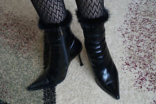 Womens WINTER, GENUINE LEATHER AND GENUINE FUR INSIDE, BOOTS SIZE EURO SIZE 40