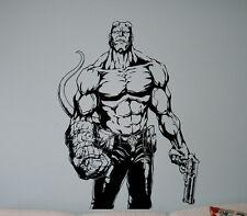 Comics Hellboy Vinyl Decal Comics Superhero Wall Vinyl Stickers Home Interior 10