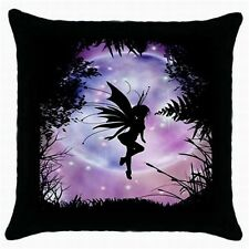 NEW SET OF 2 PINK PURPLE FAIRY CUSHION PILLOW CASE COVERS GIRLS BEDROOM
