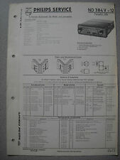 PHILIPS nd384v-12 Autoradio SERVICE MANUAL Edizione 11/58