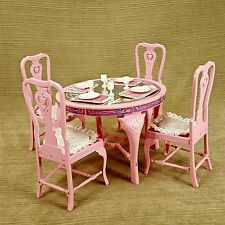 Barbie Doll Sweet Roses Dining Set Formal Casual Play Set Pink Vtg Mattel 1984