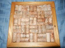 Wine Cork Corkboard Bulletin Board Wall Message Holder Home Decor Kitchen