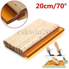 200mm 8'' 75 Durometer Silk Screen Printing Squeegee Wooden Handle Rubber Blade