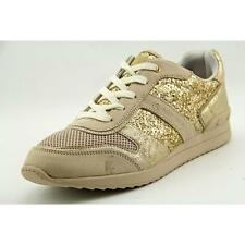 G By Guess Fax Women US 9.5 Gold Fashion Sneakers Blemish  19189