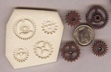 4 Differnt Shapes and Sizes Gears Steampunk Polymer Clay Push Mold DIY Jewelry