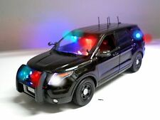 1/18 Unmarked Detective Undercover FBI CIA NYPD CHP FORD SUV Police LIGHTS LEDs