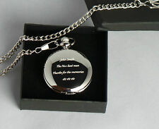 Passing Out Gifts Custom Engraved Half Hunter Pocket Watch & Presentation Box
