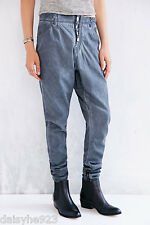NWT ONE BY ONE TEASPOON GRAY SUPER TOUGH WASHED JEANS PANTS 25 S ANKLE ZIPPER