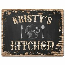 PP2296 KRISTY'S KITCHEN Plate Chic Sign Home Room Kitchen Decor Birthday Gift