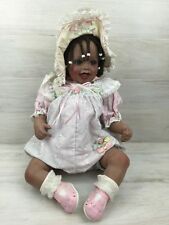 Fayzah Spanos Ltd Edition Porcelain Doll Bonnet Or Bow African American 55/500