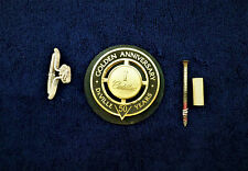 CADILLAC DEVILLE 50 YEARS GOLDEN ANNIVERSARY I GOLD GRILLE EMBLEM OEM
