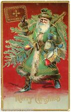 PERE NOEL.SANTA CLAUS. CHRISTMAS. ROBE VERTE . GREEN DRESS