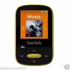 SanDisk Clip Sport 4GB MP3 Player Yellow With LCD Screen and MicroSDHC Card Slot